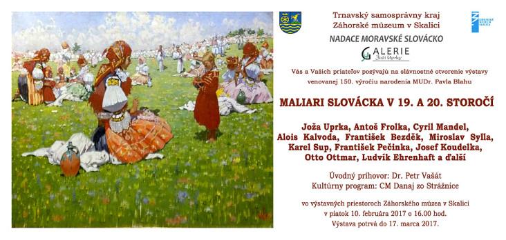 Maliari Slovacka v 19. a 20. storoci, 10.2.2017 - pozvanka