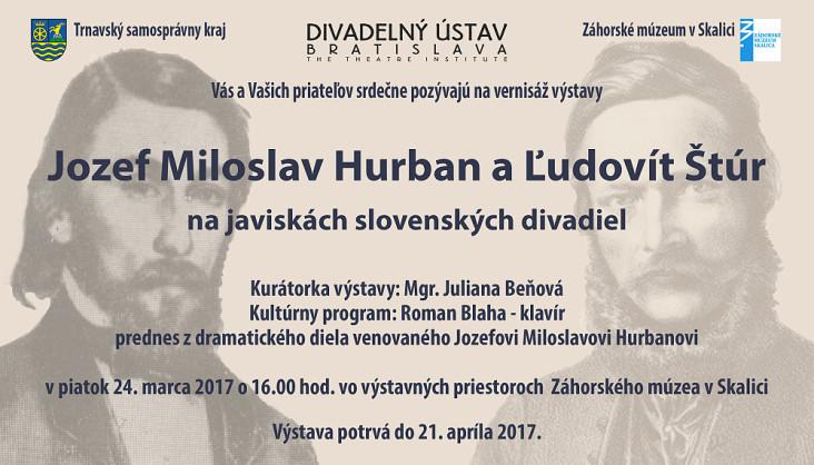 J.M.Hurban a L.Stur na javiskach slovenskych divadiel - 24.3. 2017 - pozvanka